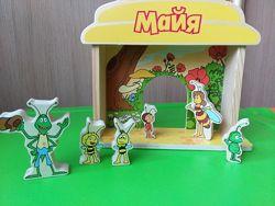 Деревянный театр Пчела Майя с фигурками