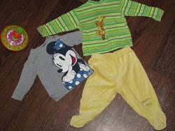Пакеты вещей для мальч. и для девоч. Человечки, ползунки, бодики, бренды0-6