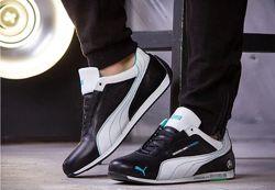 Кожаные кроссовки Puma MotorSport черные мужские