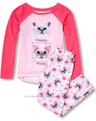 Новая стильная пижама с кошками от CHILDRENS PLACE
