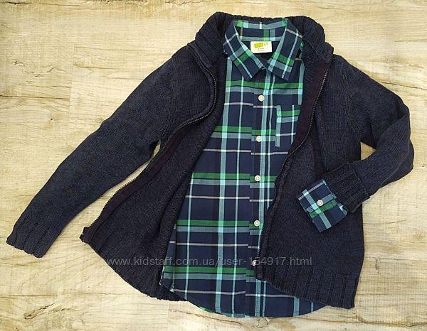 Набор кофта и рубашка Crazy8 р.5-6 лет 122 см