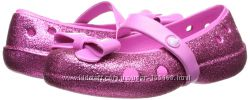 CROCS, оригинал, США. Нарядные туфли Keeley hi glitter bow flat