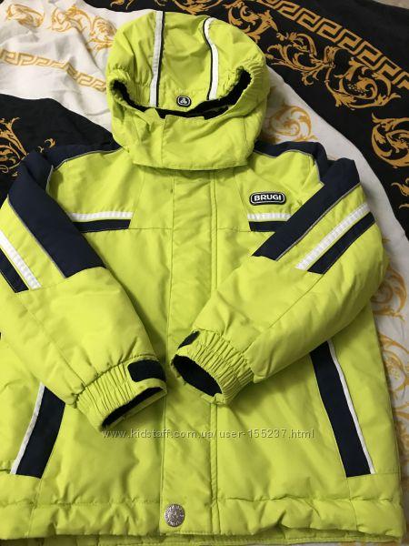 Зимняя термо куртка Brugi 110-116р.
