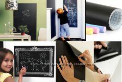 Самоклеющаяся пленка для рисования мелом на стене 45 х 200см  мелки 001