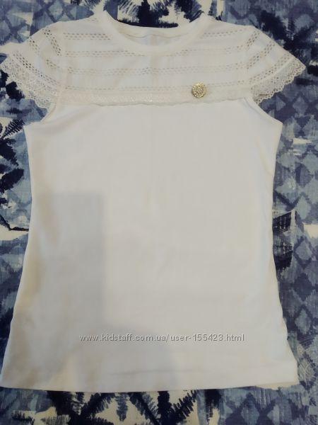 молочная школьная блузка Benini Турция размер 164