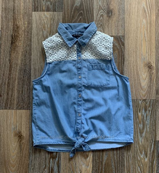 Джинсовая рубашка Matalan р. 13 лет