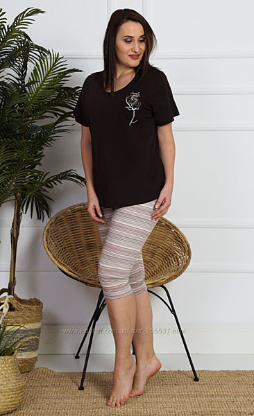 Пижама женская Vienetta Secret р.  2XL, 3XL