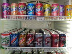 Напитки Dr. Pepper, Fanta, Coca-Cola, Mtn Dew, Pepsi США