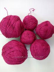 Пряжа хлопок  -  фуксия, розовый, светло-салатовый