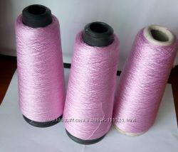 Пряжа шелк розово-лиловый Botto Poala
