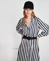 ZARA стильное платье- рубашка