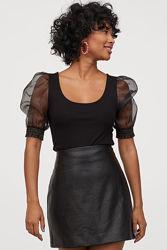 H&M  юбка экокожа