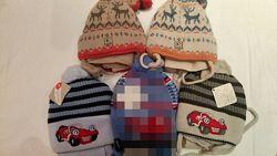 Теплые  польские шапки с шарфами