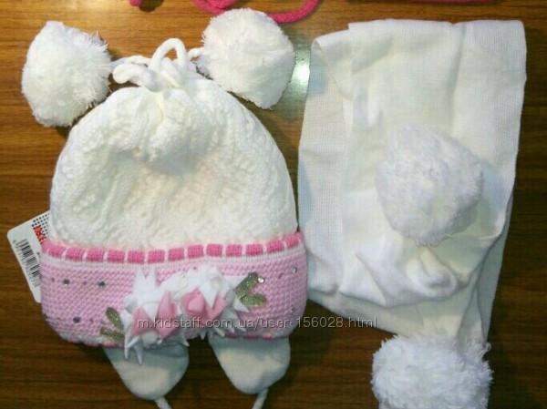 Польские комплекты шапка и шарф 50-55 размер