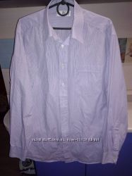 Рубашка с длинным рукавом фирменная Marks&Spencer р. L, 41 см 16