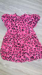 Платье в леопардовый принт