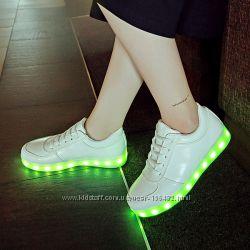 Лед кросовки, кроссовки, наложка, светящиеся кросовки, лед
