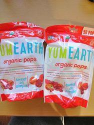 YumEarth, Органические леденцы, чупа-чупс, ассорти вкусов, 50 леденцов