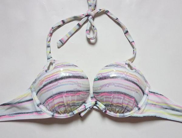 Новый купальник в пайетках 32А Victorias Secret оригинал bombshell