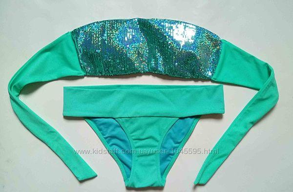 Купальник бандо Victorias Secret оригинал б. у. S XS пайетки