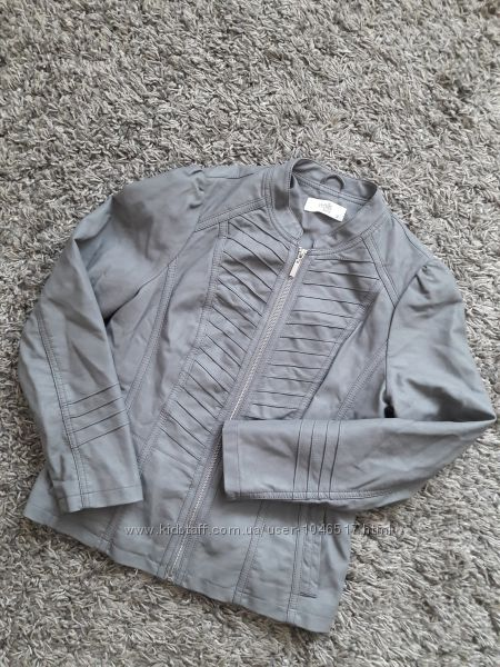 Куртка кожанка женская серая Wallis