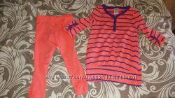 Продам стильный костюм для девочки на рост 98-104 Туника  лосины
