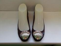 Туфли балетки кожаные дорогого бренда Miu Miu, р. 37,5 - 38