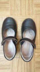 Кожаные туфли для девочки, р. 29