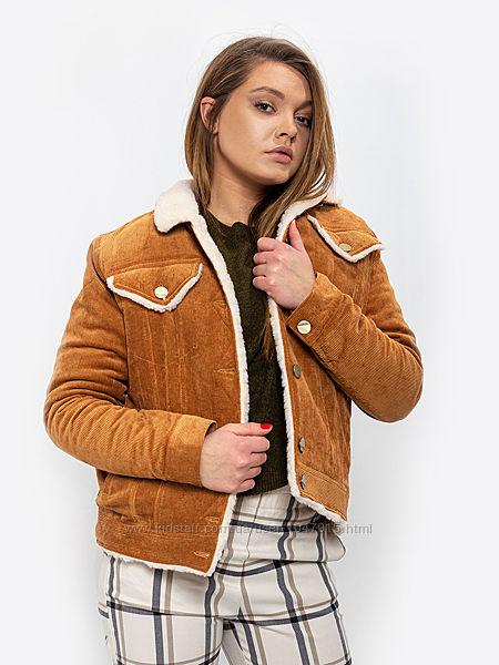 Куртка на овчине DASTI Denim горчица