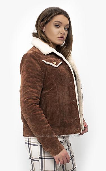 Куртка на овчине DASTI Denim коричневая
