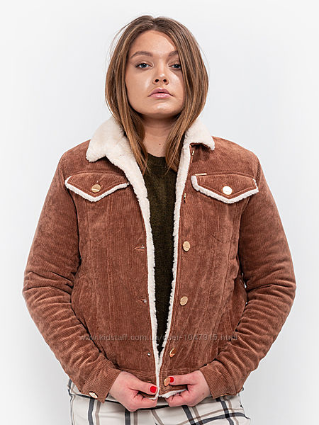 Куртка на овчине DASTI Denim рыжая