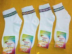 Носки белые хлопковые качественные Украина