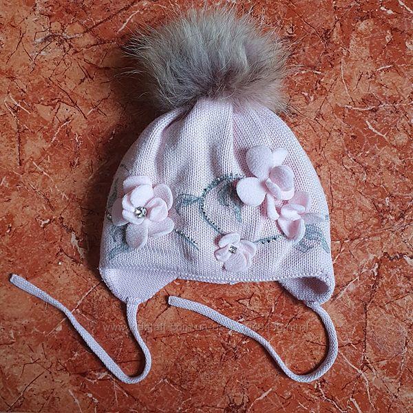 Тёплая красивая шапочка Jamiks