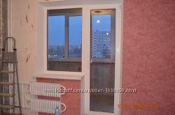 Металопластиковое окно с дверью