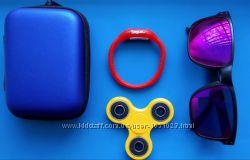 спинер  подарки очки , часы , мультибокс на молнии и лизун цвет на выбор