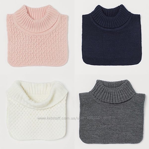 Манишка - серая белая  розовая, синяя от h&m деткам от 1 до 3 лет