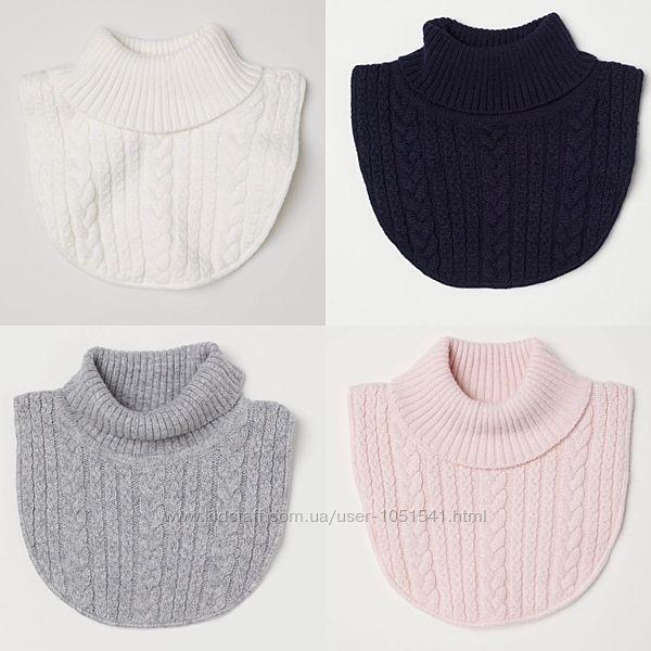 Манишки H&M  на флисе , шерсть  от 3 до 8  лет ассортимет 4 цвета