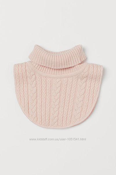 Манишка h&m розовый  цвет на флисе от 3 до 7 лет