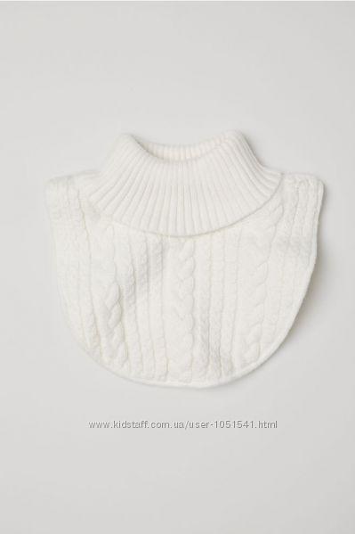 Манишка h&m белый  цвет на флисе от 3 до 7 лет