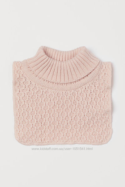 Манишка -  розовая-пудра от h&m деткам от 1 до 3 лет