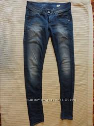 Отличные сине-серые узкие джинсы - бедровки G-Star Raw Голландия 32 р