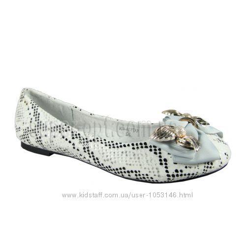 Балетки туфли для девочки белые B&G