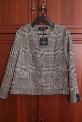 Трендовый жакет пиджак в актуальную клетку от Next Tailoring размер ХЛ