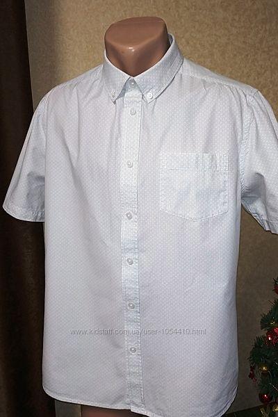 Летняя рубашка george с коротким рукавом. размер l.