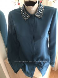 Рубашка з воротніком каменях