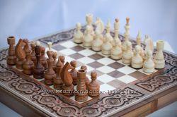 Шахматы деревянные резные ручной работы нарды шашки 3 в 1