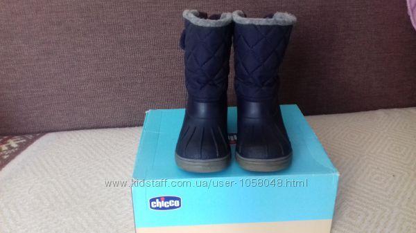 Зимние резиновые сапоги Chicco 33 размер  стелька 19  см   бу