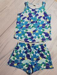 Летний костюм, комплект , майка шорты на девочку 6-7-8 лет