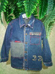 джинсовая куртка  рубашка-педжак 3-5 лет