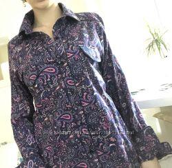 Котоновая женская рубашка 42 размер